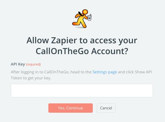 CallOnTheGo API Key