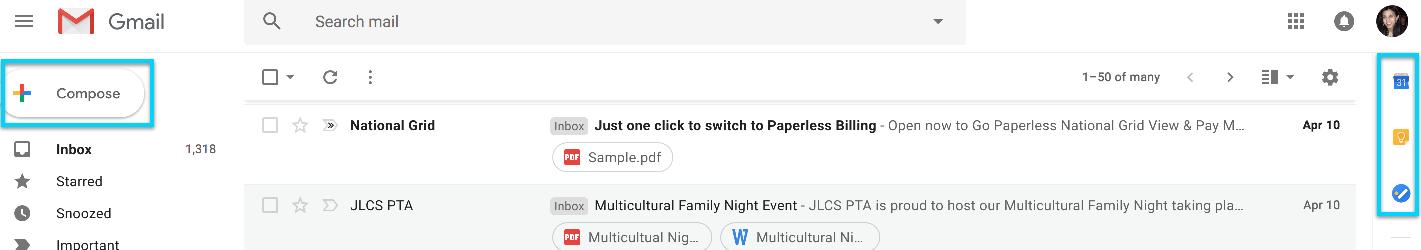 Google redesign - panel