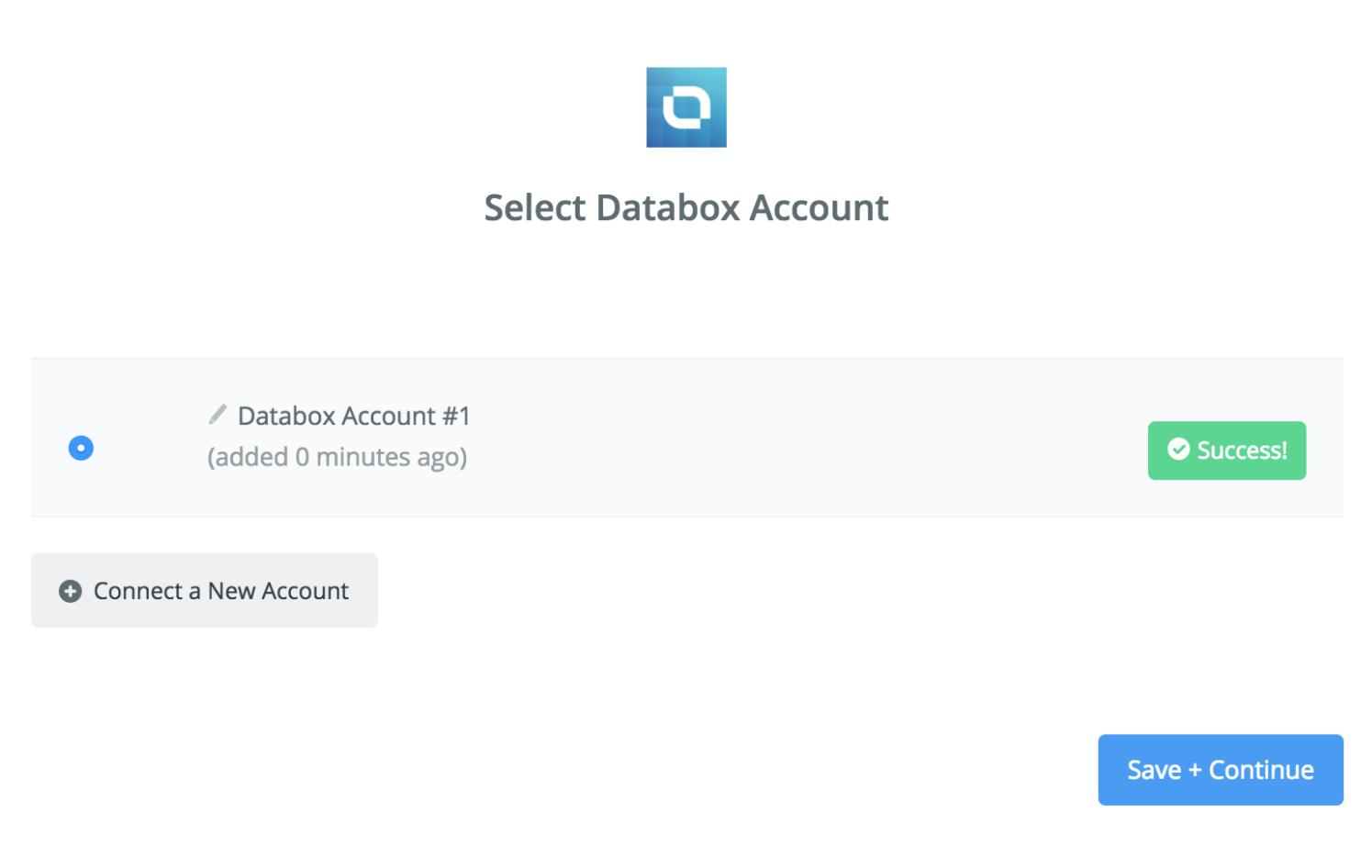 Databox connection successfull