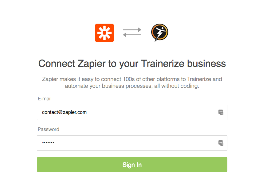 Login to Trainerize