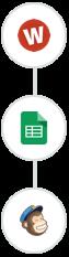 Wufoo, Google Sheets & Mailchimp